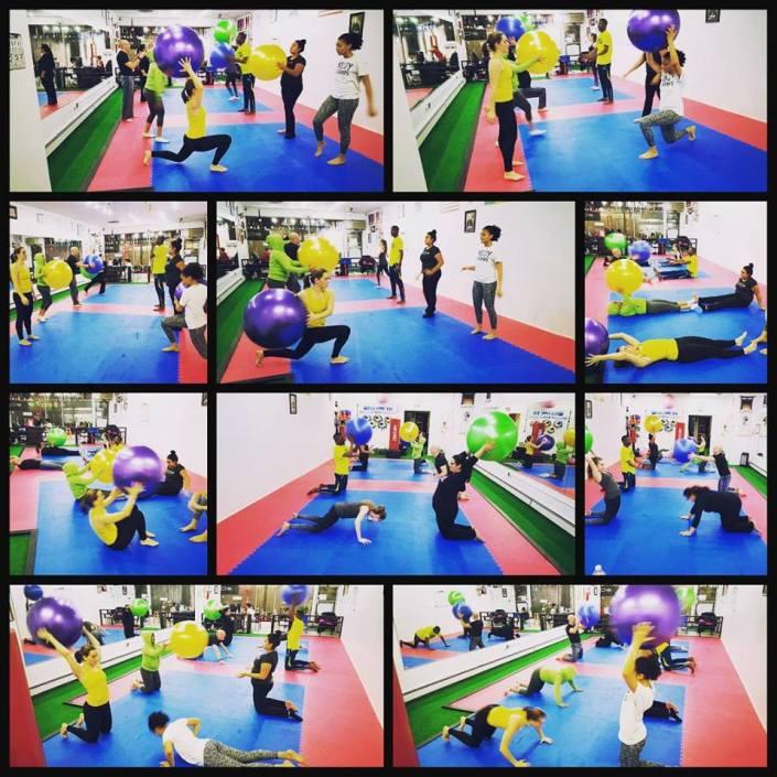 fitness class balls